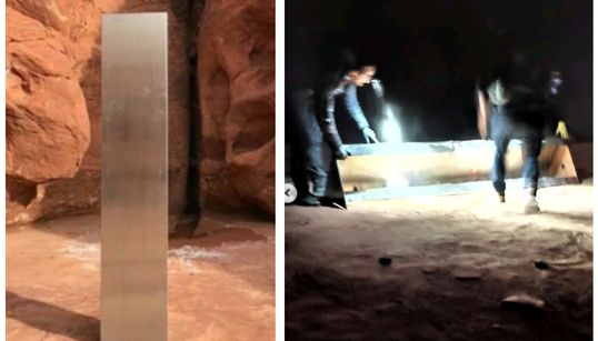 ユタ州のモノリス、撤去したのは人間の男性4人「砂漠に痕跡を残すな」