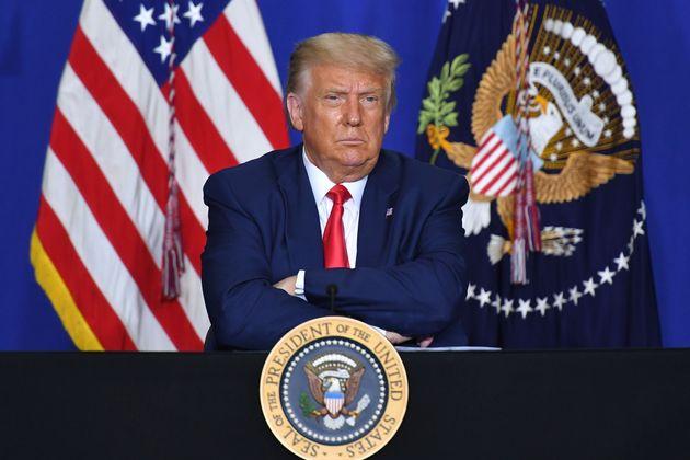 Donald Trump, ici photographié le 1er septembre dernier dans le Wisconsin, a menacé de...