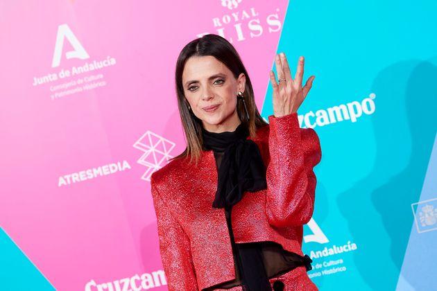 Macarena Gómez en la fiesta cocktail del Festival de cine de Málaga en el Círculo...