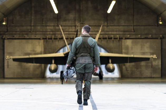 Un militar del Ejército del Aire