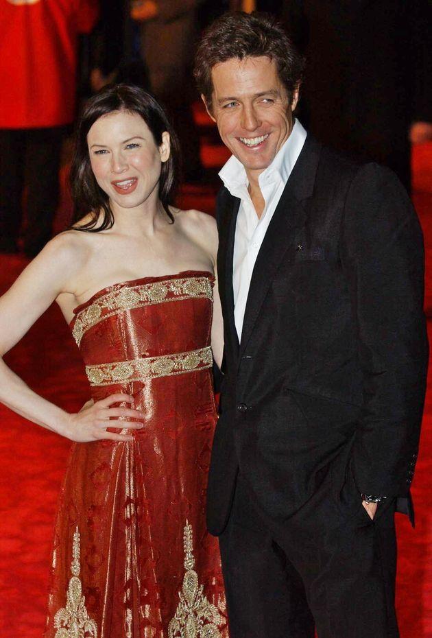 Renée Zellweger and Hugh Grant at the premiere of Bridget Jones: The Edge Of