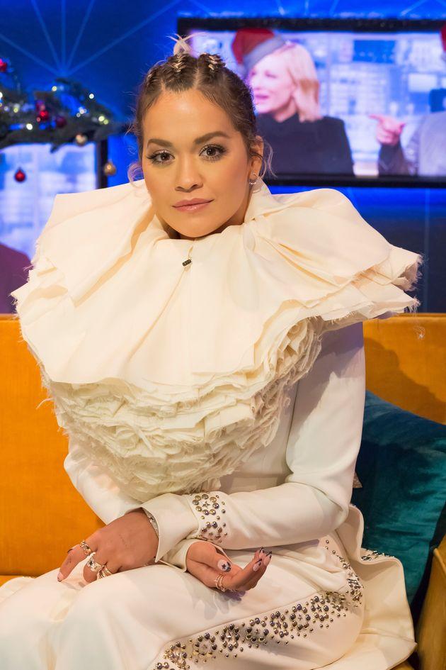 Rita Ora on The Jonathan Ross Show last