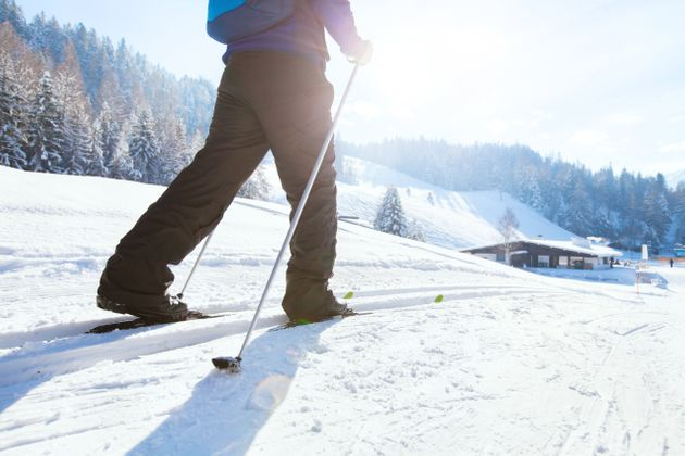 nordic skiing, winter holidays in Alps, cross country skier in