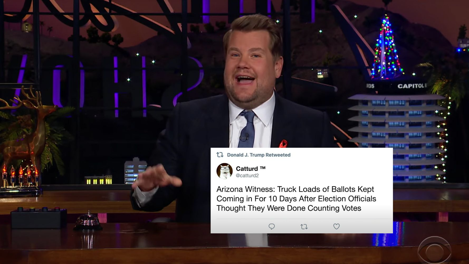 James Corden Says Trump's Weird Retweet Cat-Astrophe Hits 'New Low'