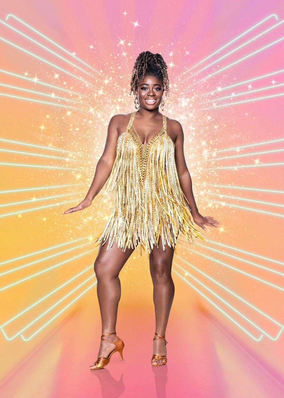 Clara Amfo in a publicity shot from this year's Strictly Come