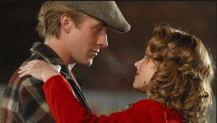 """It was a simpler time: Ryan Gosling and Rachel McAdams in old-timey boy-meets-girl love story, """"The Notebook."""""""