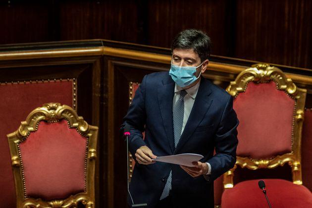 02/12/2020 Roma, Senato, informativa del Ministro della Salute Roberto Speranza sulle ulteriori misure...