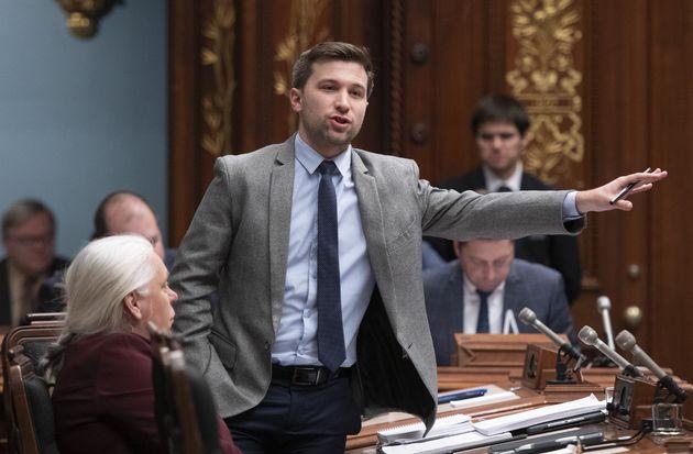 Le co-porte-parole de Québec solidaire, Gabriel Nadeau-Dubois (Photo