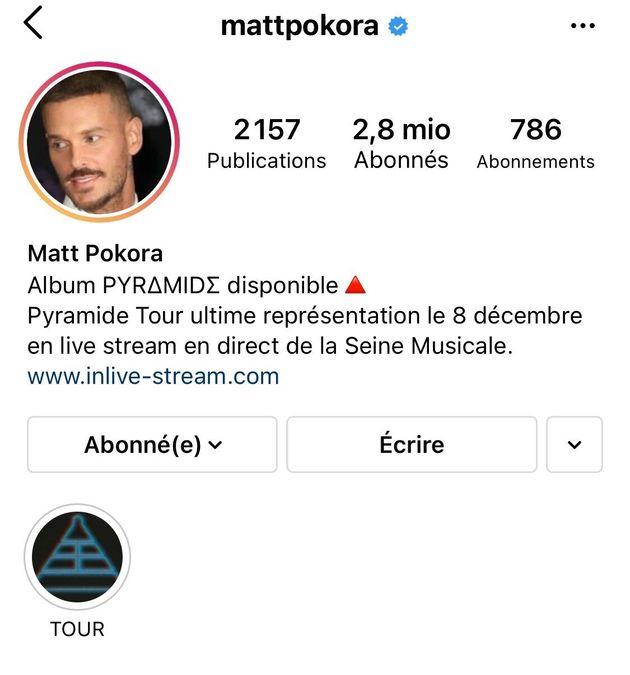 Compte Instagram de Matt