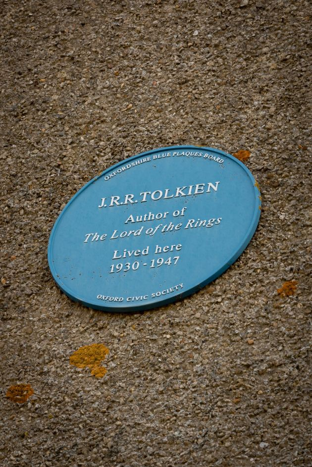 A plaque outside the house lists it as Tolkien's former