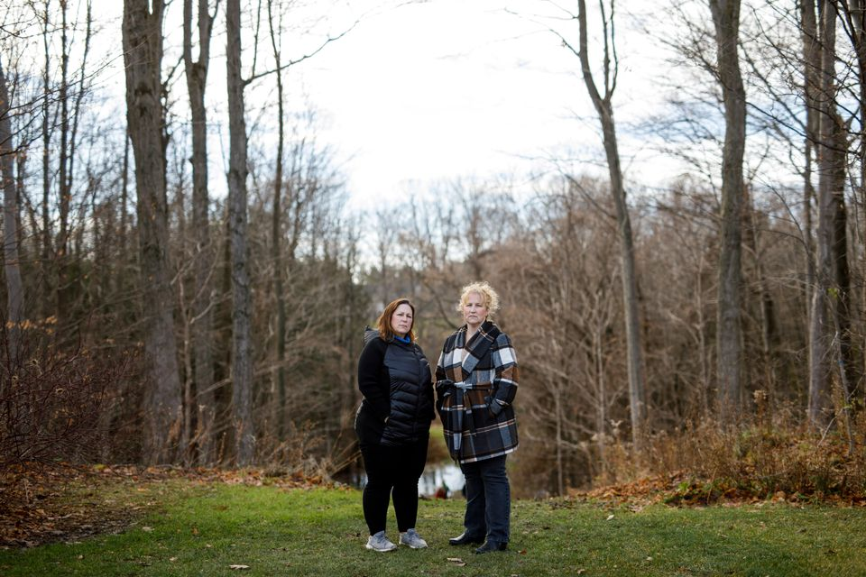 Heather Arthur and Kara Ferreira pose for a photo in Wasaga Beach, Ont. on Nov. 28, 2020. Their mother,...