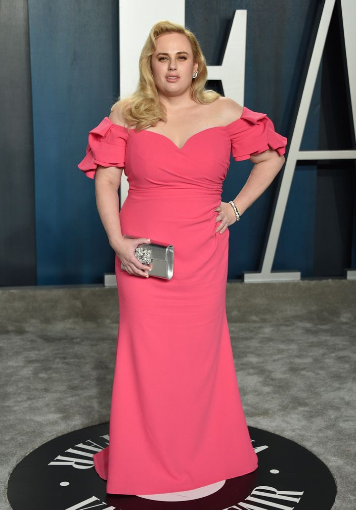Rebel Wilson arrives at the Vanity Fair Oscar Party on Sunday, Feb. 9, 2020, in Beverly Hills. Rebel  set herself the challenge of losing over four stone this year.