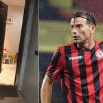 Incendiata la porta del calciatore Gentile.