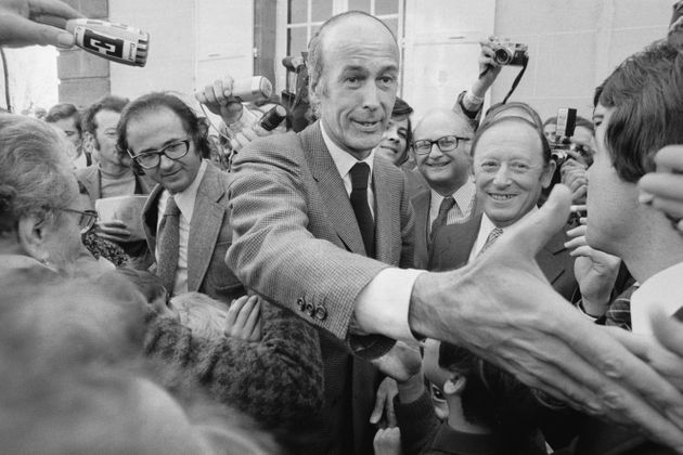 Valéry Giscard d'Estaing, alors candidat UDF à l'élection présidentielle...