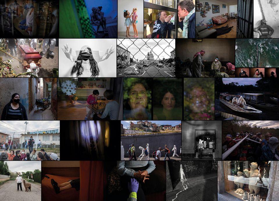 Varias de las imágenes que componen 'Pandemia. Miradas de una