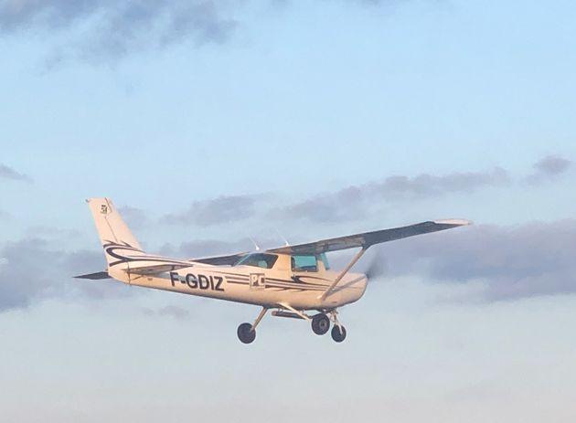 L'avion avec lequel le pilote amateur a parcouru les 20 km autour de son domicile ce