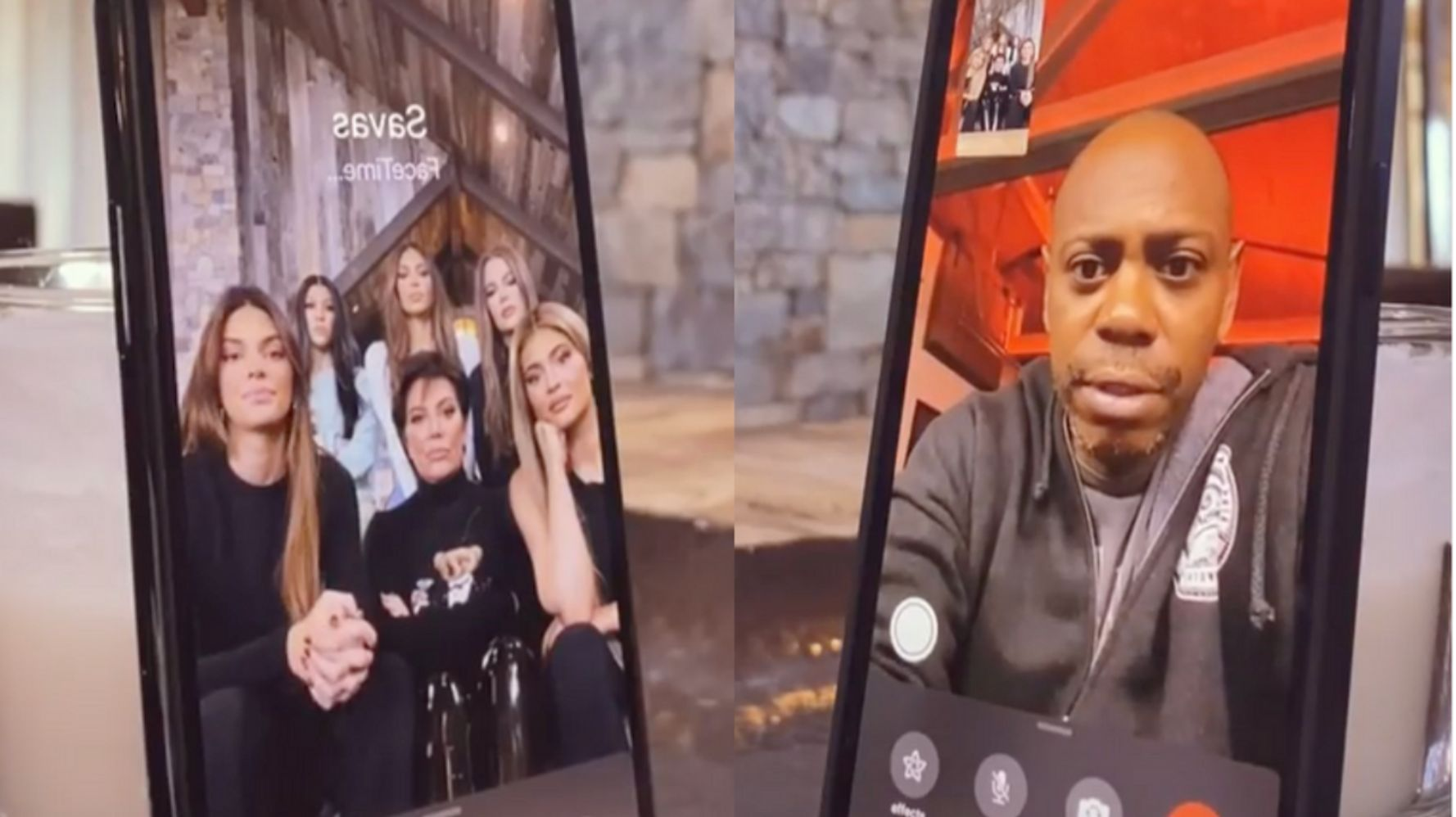 Kardashians Terrify Dave Chappelle, The Biebers And Tristan Thompson With FaceTime Prank