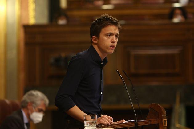 El líder de Más País, Íñigo Errejón, interviene en el