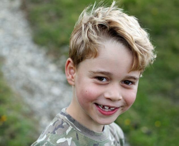 Prince George, in an image posted on his seventh birthday.