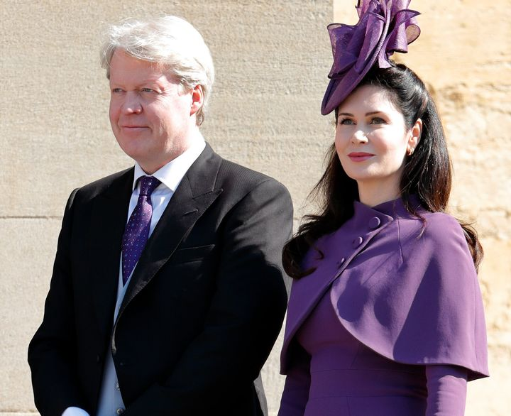 Earl Charles Spencer and Countess Karen Spencer at Prince Harry and Meghan Markle's wedding on May 19, 2018.