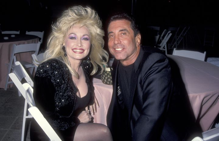 Dolly Parton with Sandy Gallin in 1992.