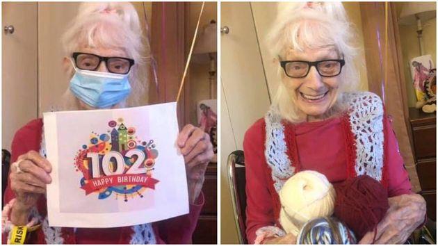 102歳の誕生日を祝うアンジェリーナ・フリードマンさん