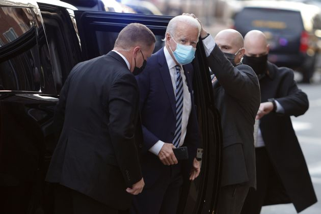WILMINGTON, DELAWARE - DECEMBER 03: U.S. President-elect Joe Biden arrives at the Queen Theater to participate...
