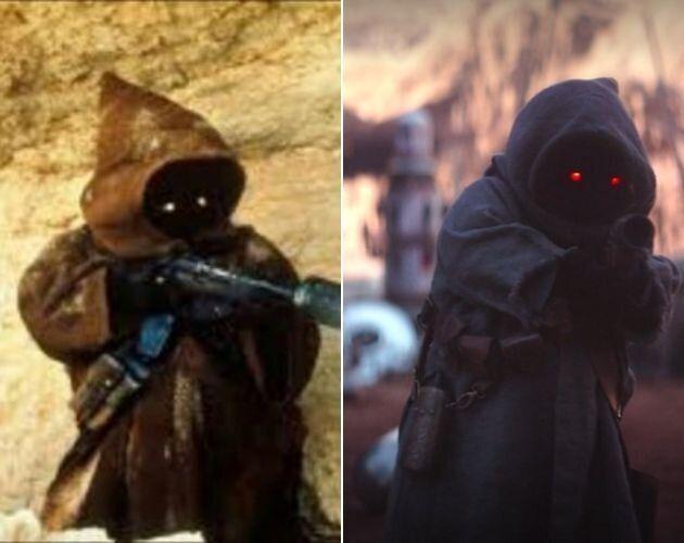 Los jawas, en el 'Episodio IV' de 1977 y en 'The Mandalorian'.