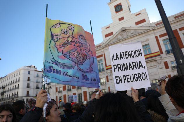Protesta de la Marea Blanca, el pasado 1 de octubre, en