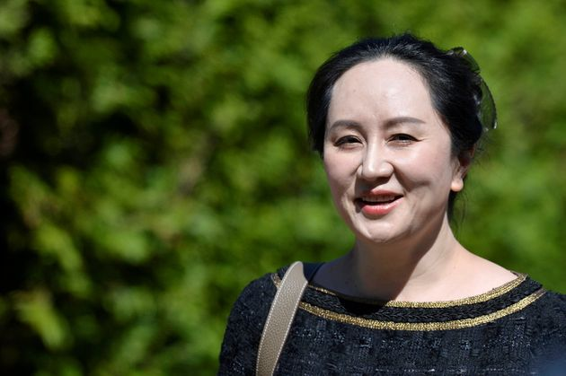 Huawei Technologies Chief Financial Officer Meng Wanzhou leaves her home to attend a court hearing in...