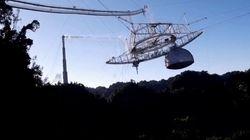 Colapsa un radiotelescopio de 900 toneladas, famoso por aparecer en James