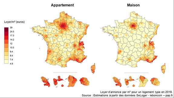 Pour savoir quel loyer payer dans chaque commune française, on peut désormais explorer une carte tout...