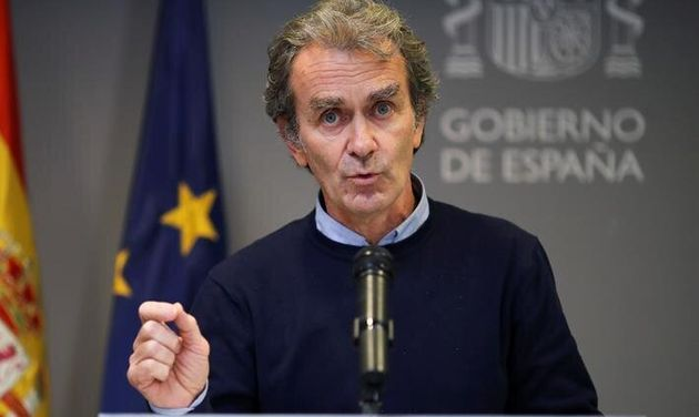 Fernando Simón, durante su última comparecencia en el Ministerio de