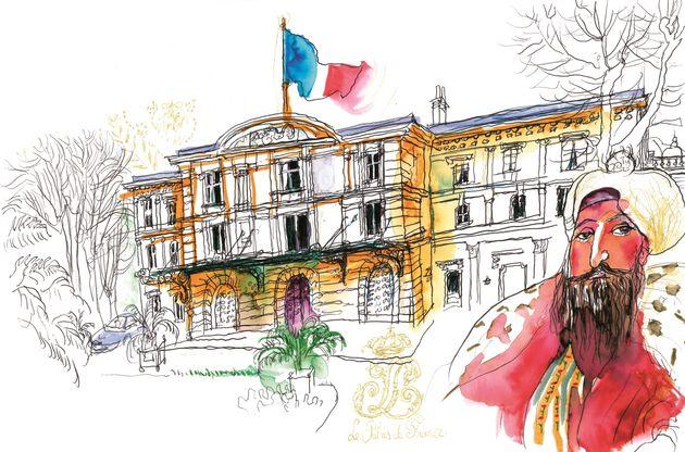 Le consulat général de France à Istanbul, dans le livre