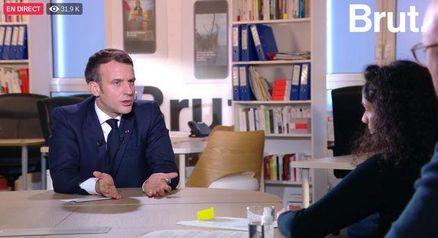 Emmanuel Macron lors de son entretien chez