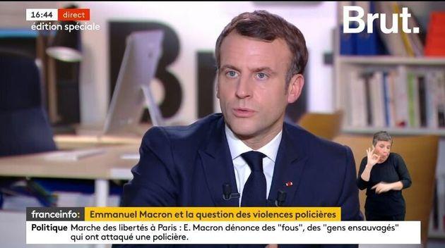 Emmanuel Macron interviewé sur
