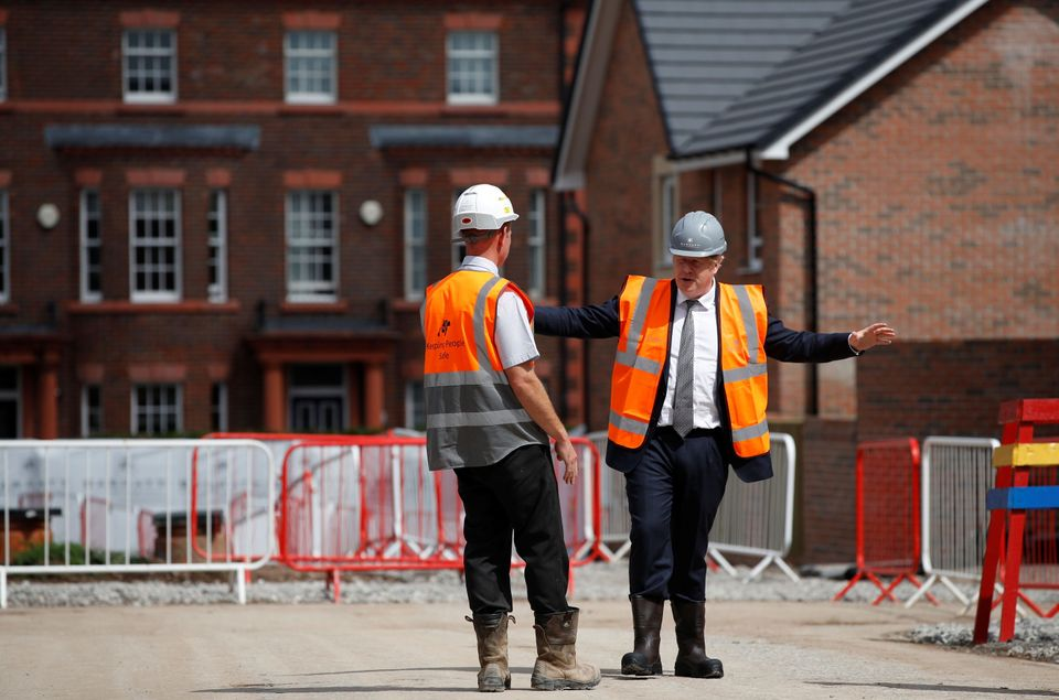 Prime minister Boris Johnson visits a construction site in Warrington in August. The government has been...