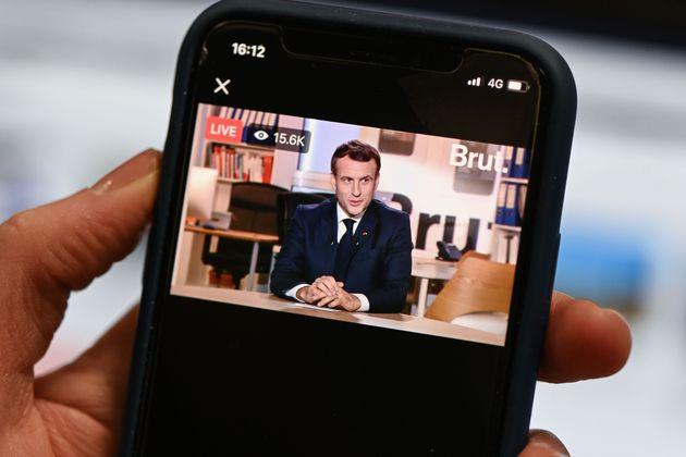 Emmanuel Macron lors de son interview à