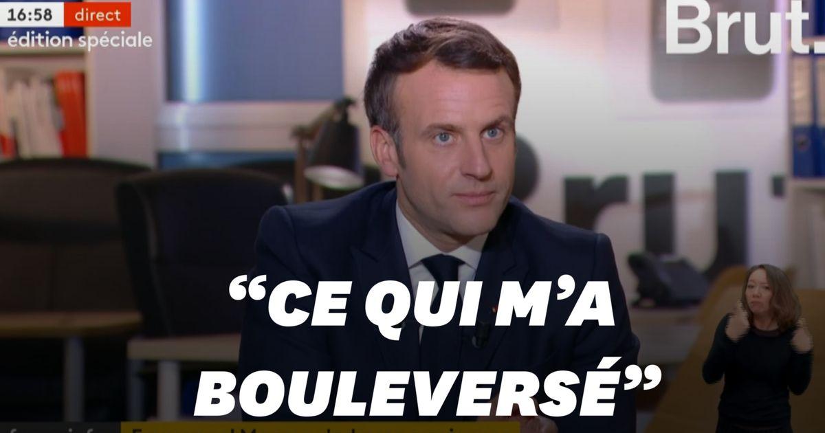L'émotion d'Emmanuel Macron à l'évocation de Samuel Paty et du terrorisme