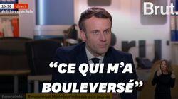L'émotion d'Emmanuel Macron à l'évocation de Samuel Paty et du
