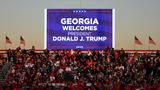 Supporters wait for a campaign rally by U.S. President Donald Trump in Rome, Georgia, U.S., November 1, 2020. Picture taken November 1, 2020. REUTERS/Brandon Bell