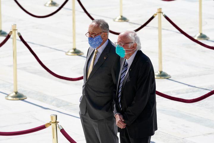 "Sen. Bernie Sanders, I-Vt. called the current bipartisan proposal ""wrong morally."" (AP Photo/Alex Brandon, Pool)"