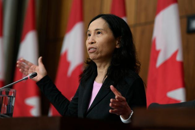 Chief Public Health Officer of Canada Dr. Theresa Tam speaks during a news conference on the COVID-19...