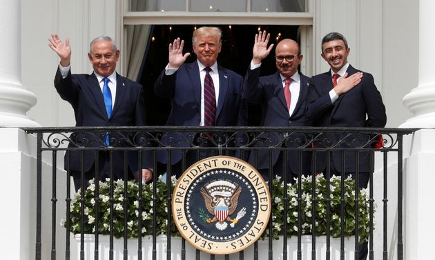 President Donald Trump held a high-profile ceremony at the White House in September with Israeli Prime...