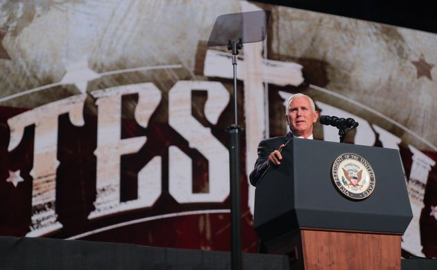 Vice President Mike Pence was among the speakers at the Southern Baptist Convention's annual meeting...