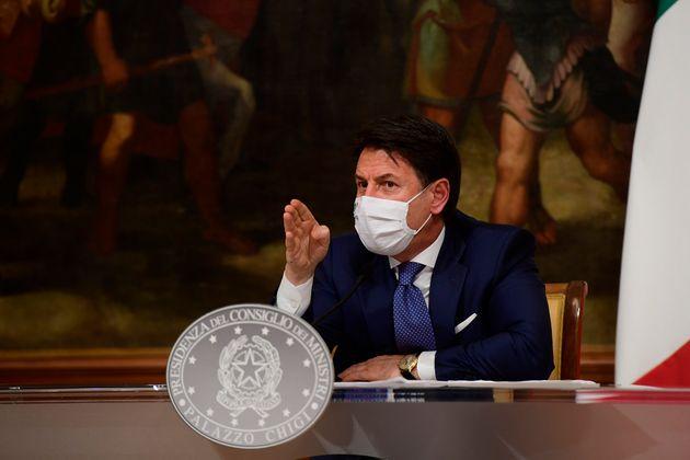 03/12/2020 Roma, Palazzo Chigi, conferenza stampa di Giuseppe Conte sull'ultimo DPCM sulle restrizioni...