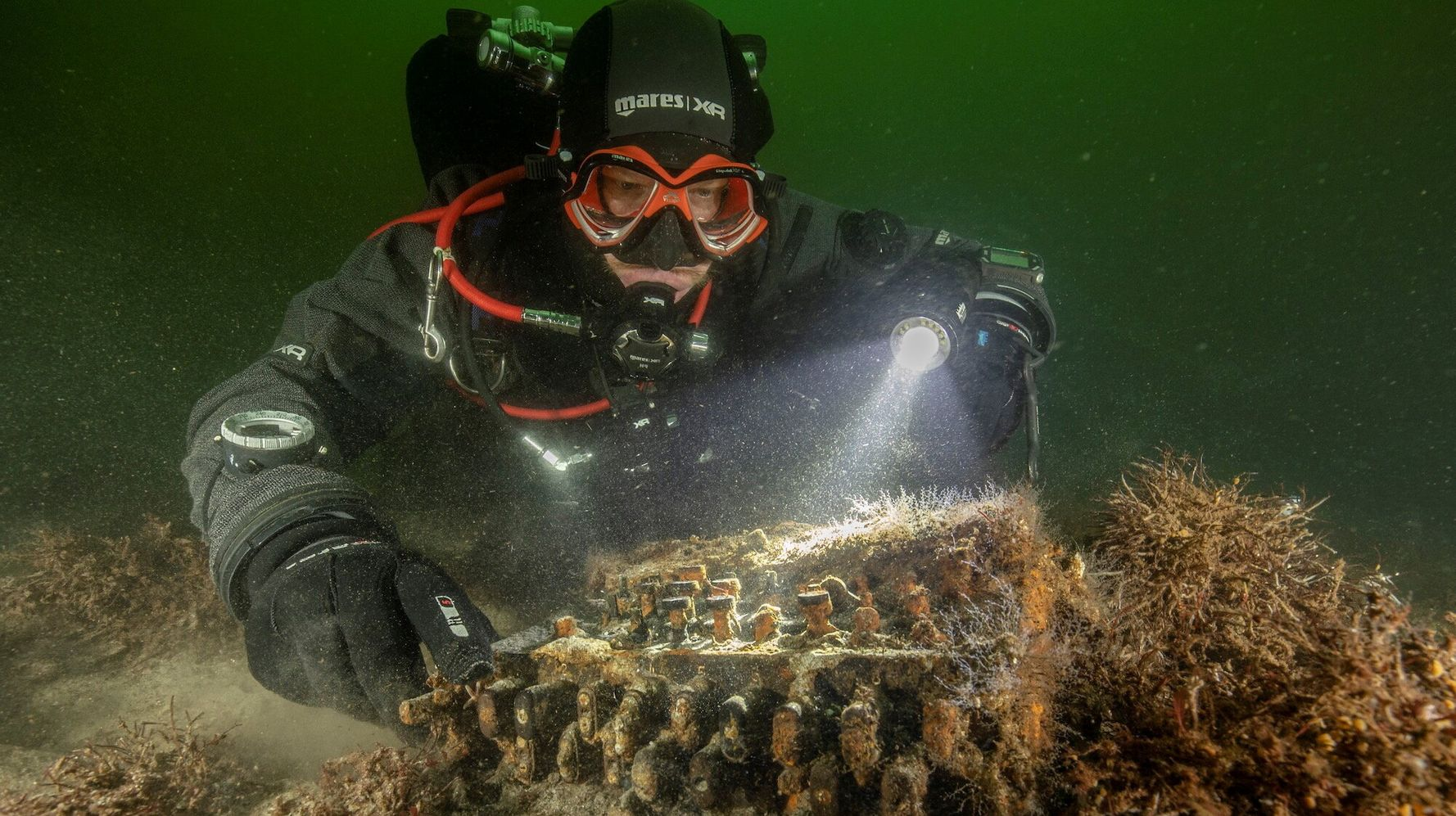 Divers Discover Rare Nazi World War II Enigma Machine