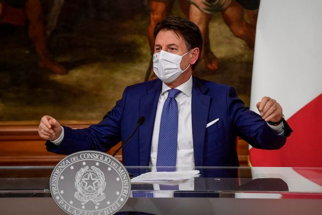 ROME, ITALY - DECEMBER 03: Italian Prime Minister Giuseppe Conte holds a press conference to announce...