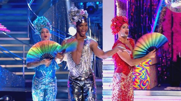 Gorka, Johannes and Giovanni were serving looks as they took part in Strictly's Musicals Week performance...