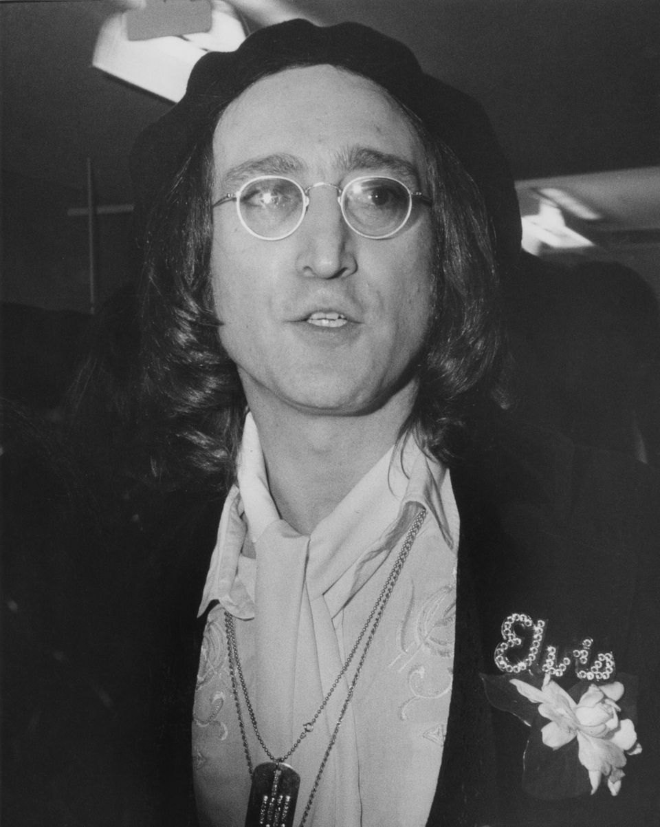 Singer, musician and songwriter John Lennon (1940 - 1980), a former member of British pop group The Beatles,...